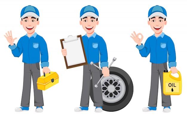Meccanico auto professionista in uniforme