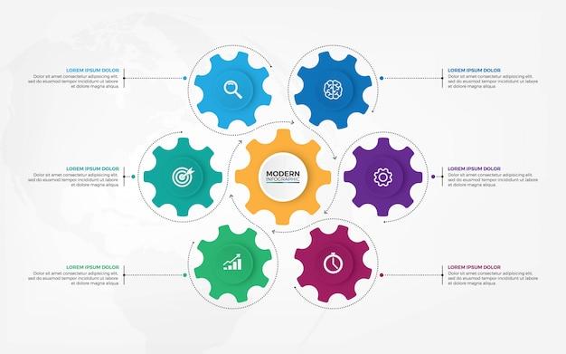 Meccanismo aziendale progettazione infografica