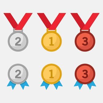 Medaglia d'argento e bronzo oro