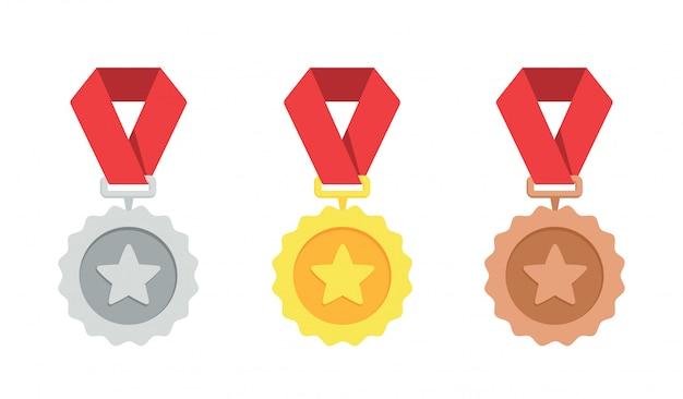 Medaglia d'oro, d'argento, di bronzo.