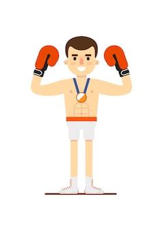 Medaglia di bronzo vincente del pugilato