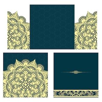 Medaglione indiano floreale paisley. ornamento etnico mandala.