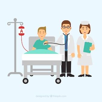 Medici e pazienti piatti