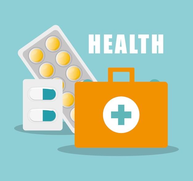 Medicina di pillole capsula primo soccorso kit