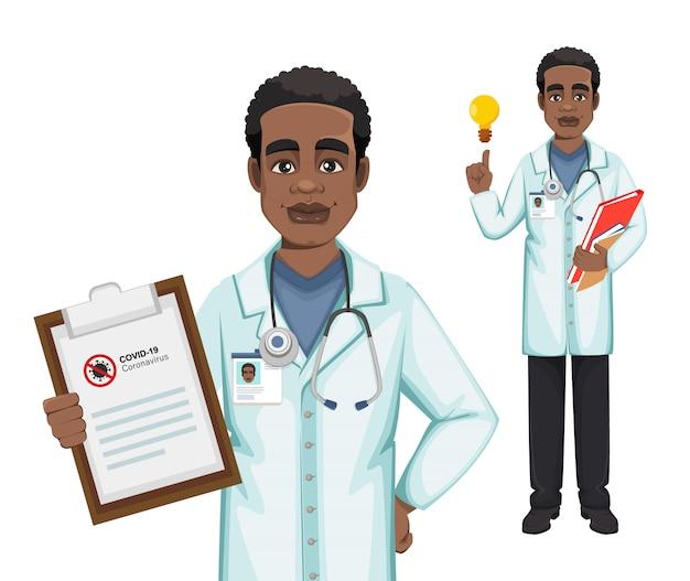 Medico che lavora durante l'epidemia di coronavirus covid-19
