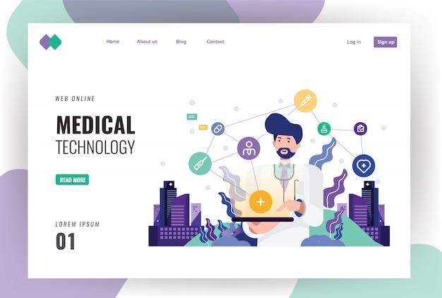 Medico che lavora su una tavoletta digitale.