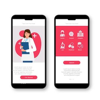 Medico che tiene un app di prenotazione medica appunti