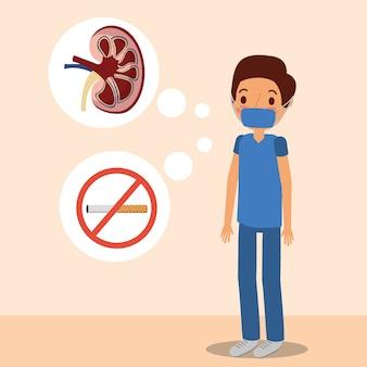 Medico chirurgo rene e tabacco proibito
