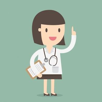 Medico con lo stetoscopio disegno