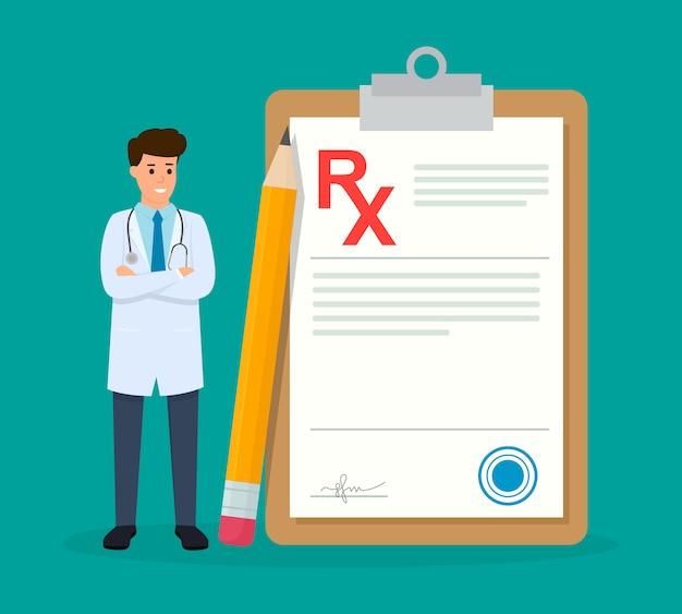 Medico con una prescrizione medica
