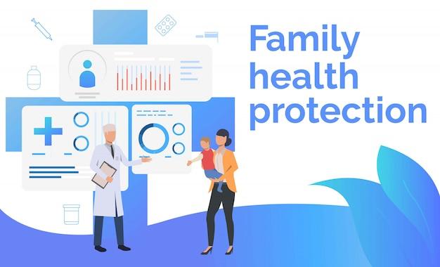 Medico consulenza madre con bambino