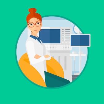 Medico ecografia femminile