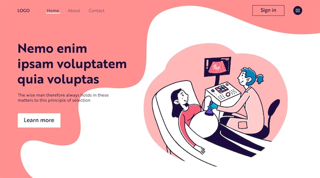 Medico in visita donna incinta