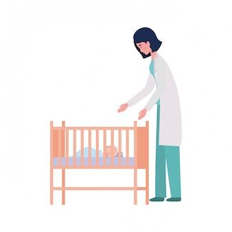 Medico isolato della donna e del neonato