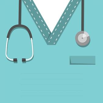 Medico o infermiere con un apparecchio acustico - stetoscopio