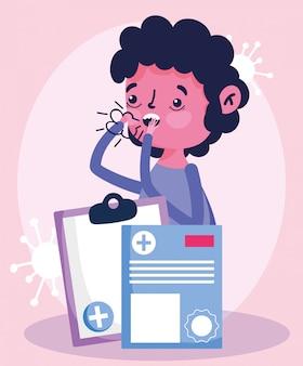 Medico online, paziente con tosse referto medico prescrizione covid 19