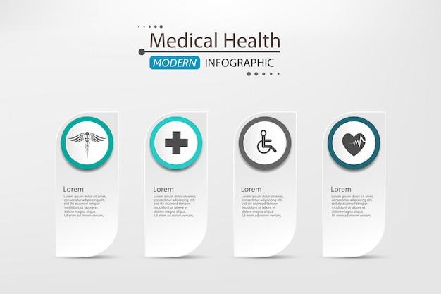 Medico su carta infografica sfondo