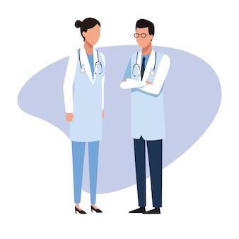 Medico team medico lavoro e lavoratori