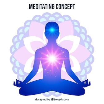 Meditando sullo sfondo del concetto