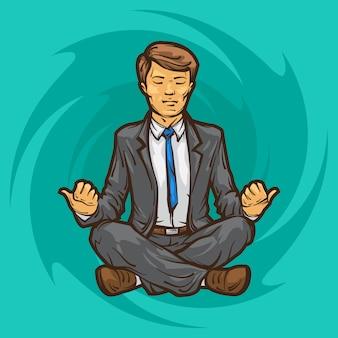Meditazione uomo d'affari