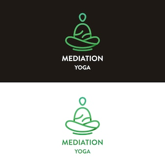 Meditazione yoga logo design