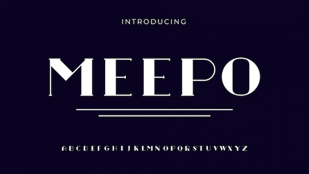 Meepo serif font
