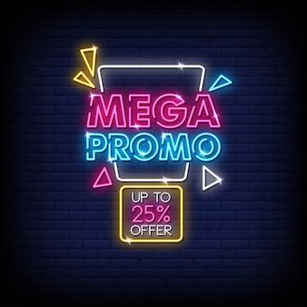 Mega promo insegna al neon