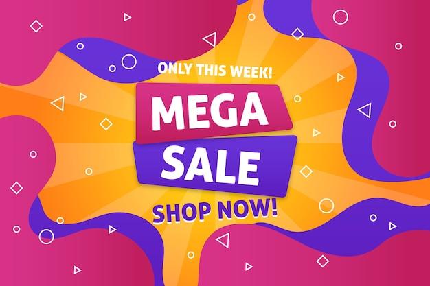 Mega vendita backgroun vendita colorato