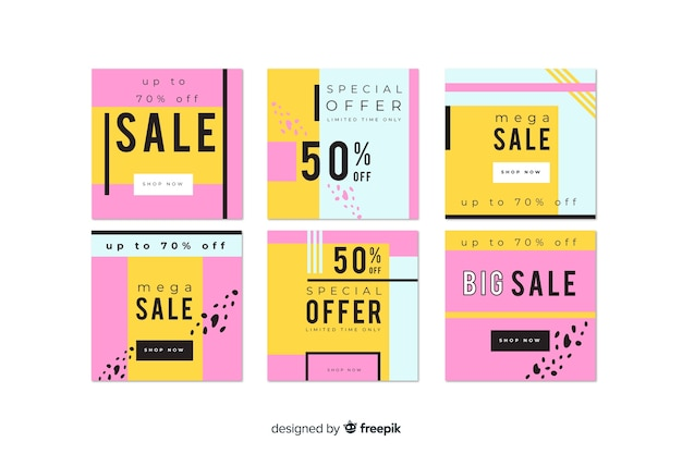 Mega vendita instagram post collection