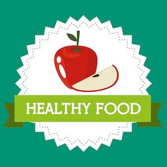 Mele fresche cibo sano