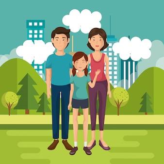 Membri della famiglia fuori casa