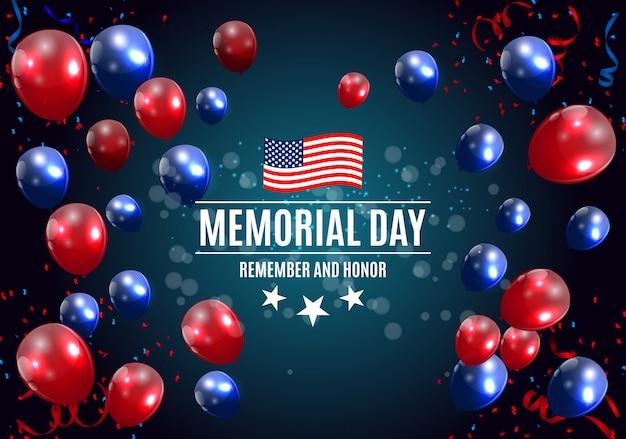 Memorial day nel fondo di usa