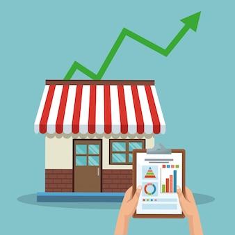 Memorizza le vendite in crescita