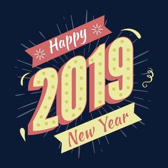 Memphis nuovo anno 2019 in 3d design