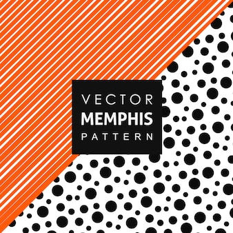 Memphis Pattern Background a tinta unita