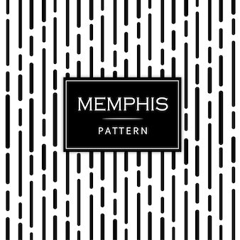 Memphis pattern background in bianco e nero moderno