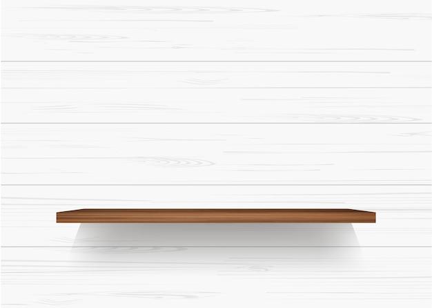 Mensola in legno sulla parete in legno