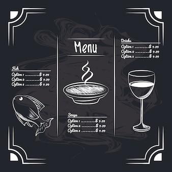 Menu articoli del ristorante