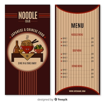 Menu bar noodle