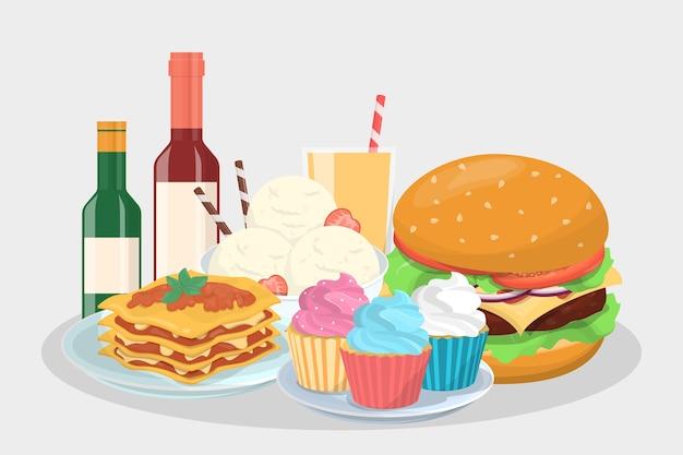 Menu del cibo per la festa. delizioso spuntino