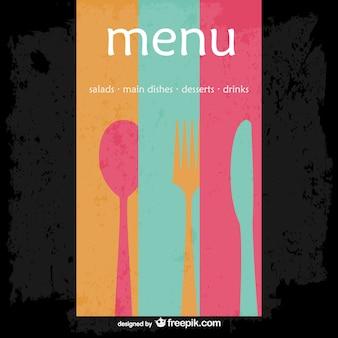 Menu del ristorante astratta vector