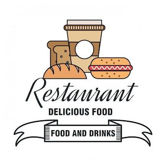 Menu del ristorante design alimentare