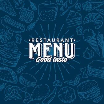 Menu del ristorante modello vettoriale stock