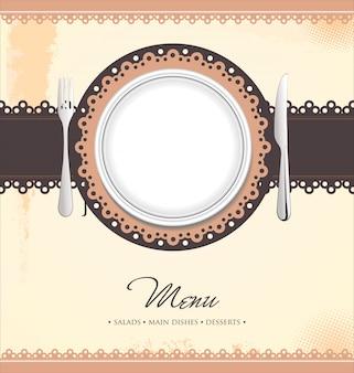 Menu design del ristorante