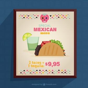 Menu design messicano