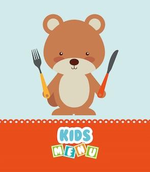 Menu design per bambini