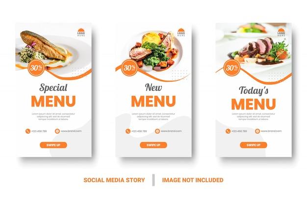 Menu di cibo banner social media story.
