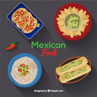 Menu di cibo delicious messicano