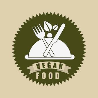 Menu di cibo vegetariano