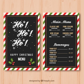 Menu di Natale con bordo decorativo